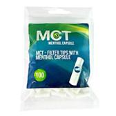 MCT - Menthol Capsule Crushball Slim Filter Tips  - 100 Filters Per Bag
