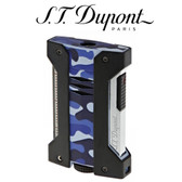 S.T. Dupont - Defi Extreme - Camo Blue - Single Jet Torch Lighter