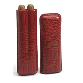 Romeo y Julieta Burgundy Leather Case with Two Churchill Cigars