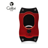 Colibri -  S Cut Cigar Cutter  - 66 Ring Gauge - Red with Black Blades