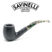 Savinelli - Camouflage Rusticated Black - 606 Pipe - 9mm Filter