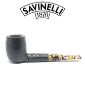 Savinelli - Arlecchino Rusticated Black - 111 Pipe - 9mm Filter