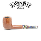 Savinelli - Arlecchino Smooth Natural - 111 Pipe - 9mm Filter