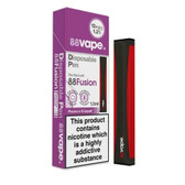 88 Vape - Disposable Vaping Pen - Fusion - 12mg - Pre filled