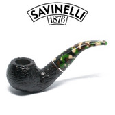Savinelli - Camouflage Rusticated Black - 642 Pipe - 9mm Filter