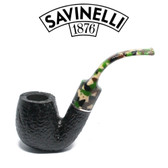Savinelli - Camouflage Rusticated Black - 614 Pipe - 9mm Filter