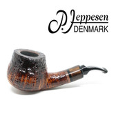 Peder Jeppesen - IDA Gr 2 Bent  Brandy (Sandblast)  9mm Filter Pipe