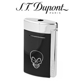 S.T. Dupont - MiniJet - Single Jet Torch Lighter - Black with White Skull
