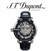 ST Dupont - Be Bold Hyperdome Watch - Black Leather Croc Strap