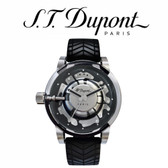 ST Dupont - Be Daring Hyperdome Watch - Black Rubber Strap