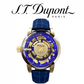 ST Dupont - Be Chic Hyperdome Watch - Gold with Blue Leather Strap