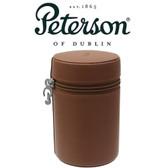 Peterson - Grafton - Brown Large Leather Travel Tobacco Jar