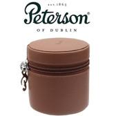 Peterson - Grafton - Brown Medium Leather Travel Tobacco Jar