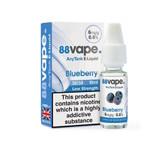 88 Vape - Blueberry  E Liquid - 50/50 - 6mg - 20 x 20ml (200ml Total)