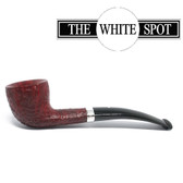 Alfred Dunhill - Ruby Bark - 3 127 - Pear - Group 3 -  White Spot - Silver Band