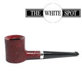 Alfred Dunhill - Ruby Bark - 4  122 - Group 4 -- Poker - White Spot - Silver Band