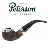 Peterson - Sandblast Silver Cap 03 - Fishtail Pipe