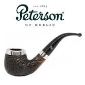 Peterson - Sandblast Silver Cap 68 - Fishtail Pipe