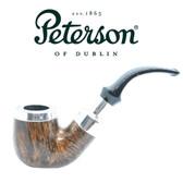 Peterson - Flame Grain Spigot X220 Silver Cap - Fishtail Pipe