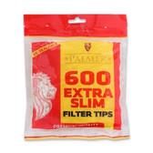Palmer - Extra Slim Tips - 600 Filters - 5.3mm
