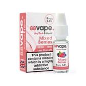 88 Vape - Mixed Berries  E Liquid - 50/50 - 6mg - 20 x 20ml (200ml Total)