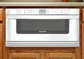 SHARP 1000 Watt 1.0 cu. ft. Microwave Drawer  in White - KB-6015KW