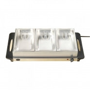 NOSTALGIA 3-Section Buffet and Warming Tray - BCD992