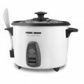 BLACK & DECKER 14-Cup Rice Cooker with Steamer Basket White - RC436