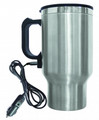 BRENTWOOD 16 oz. Electric Coffee Mug with Car Plug, Stainless Steel - CMB-16C