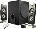 CYBER ACOUSTICS CA-3602 3 Piece Flat Panel Design Subwoofer & Satellite Speaker System - CA-3602