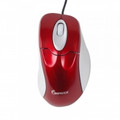 IMPECCA WM100R Illuminated USB Optical Wheel Mouse Red with Gray Trim - WM100R