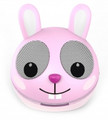 ZOO-TUNES Pink Rabbit Compact Portable Character Stereo Speaker - MCS08