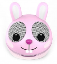 ZOO-TUNES Compact Portable Bluetooth Stereo Speaker, Pink Rabbit - MCS08BT