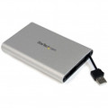 STARTECH 2.5in USB SATA External Hard Drive Enclosure w Integrated USB cable - SAT2510SCB