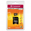 TRANSCEND Micro SD 2GB with Adapter - TS2GUSD
