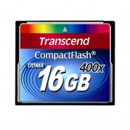 TRANSCEND Compact Flash 16GB 400x High-Capacity Memory Card - TS16GCF400