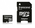 TRANSCEND 4GB Micro SDHC Class 2 with Standard SD Adapter - TS4GUSDHC2