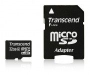 TRANSCEND Micro SDHC 32GB Class 2 with Standard SD Adapter - TS32GUSDHC2
