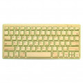 IMPECCA Compact Bluetooth Wireless Bamboo Keyboard Green - KBB78BTG