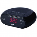 RCA AMFM Dual Wake Alarm Clock with 0.6-Inch Red LED Display - RC205