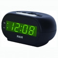 RCA Single Wake Alarm Clock with 0.7 Green LED Display - RCD20