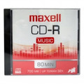 MAXELL CD-R Music 700MB 80-Minute Up To 32x Recording 10-Pack - CDRS