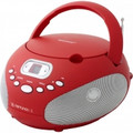 RIPTUNES AMFM CD Boombox - Red - CDB200R