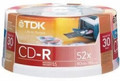 TDK PrintOn? CD-R 52x 700MB 30-Pack Spindle - CD-R/30P