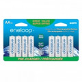 SANYO Eneloop AA Rechargeable 2000mAh Ni-MH Batteries Pack of 16 - SEC-HR3UA6SPN