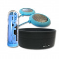 HALO Headphones Snow Light Blue Speakers plus Black Headband - HALOSN