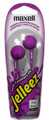 MAXELL Jelleez Soft Style Stereo Earbuds - Purple - 190525