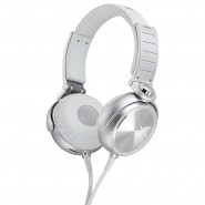SONY X-Series Over-the-Ear Headphones with Mic and Remote - WhiteSilver - MDR-X05/SJC