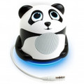 GOGROOVE Groove Pal Jr. Panda Portable Media Speaker with Glowing LED Base - GG-PAL-JRPANDA