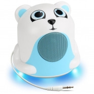 GOGROOVE Groove Pal Jr. Polar Bear Portable Media Speaker with Glowing LED Base - GG-PAL-JRPOLAR